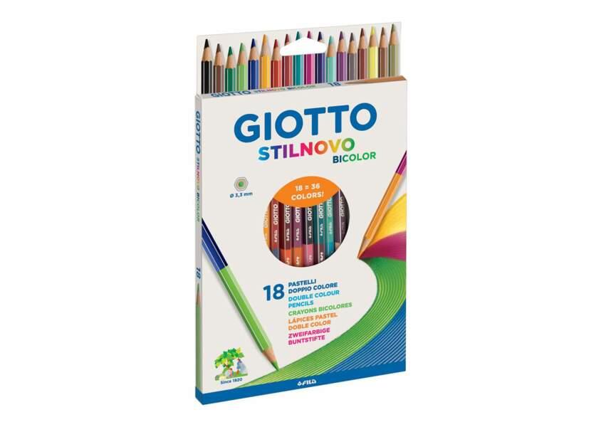 Des crayons 2 en 1