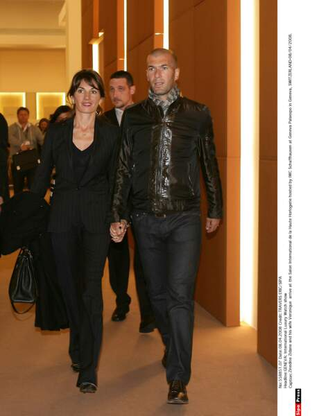 Zinédine Zidane et sa femme Véronique : 2008