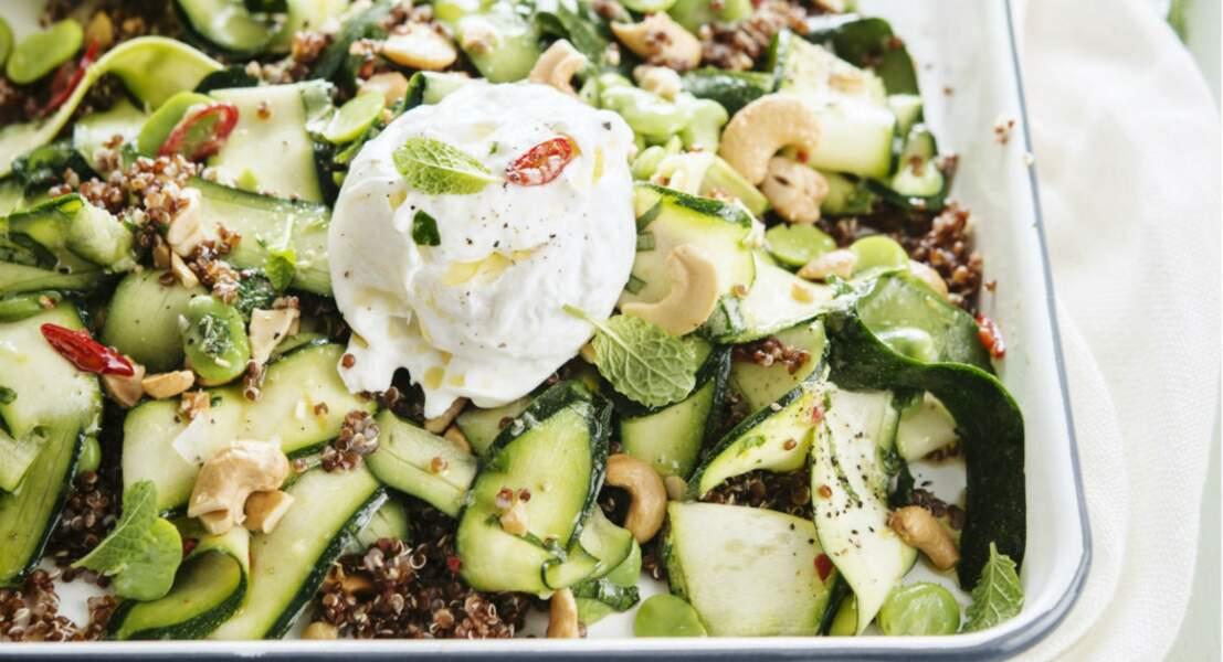 Salade fraîche de quinoa à la mozzarella