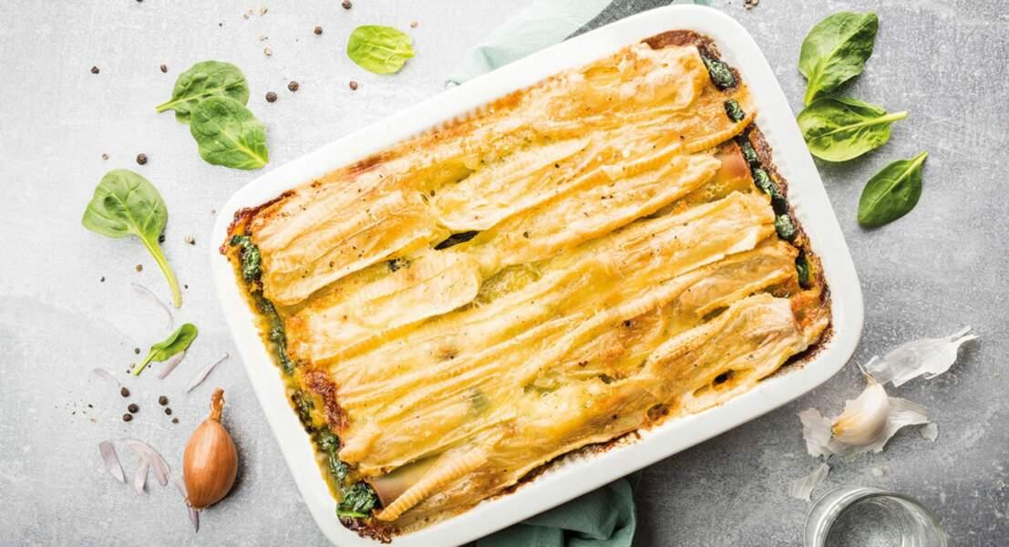 Cannellonis au fromage pour tartiflette RichesMonts et aux épinards