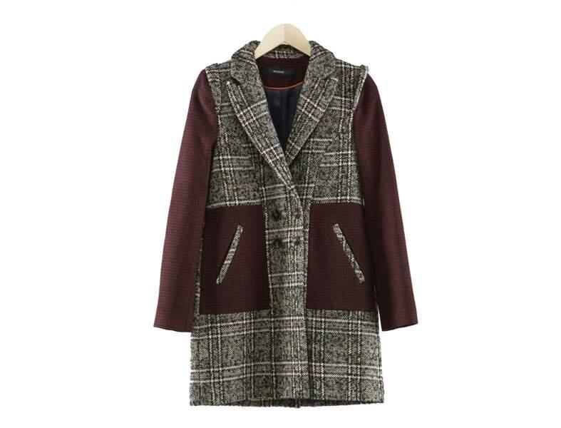 Manteau à carreaux Kookaï