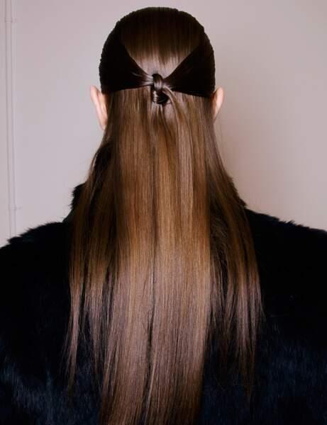 La coiffure nouée du défilé Rucci