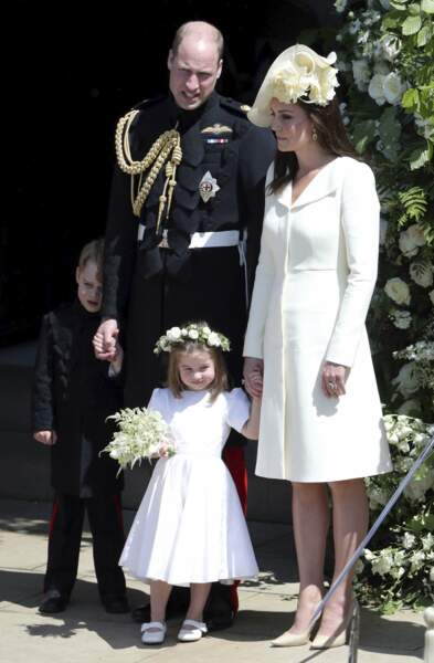 George, William, Charlotte et Kate
