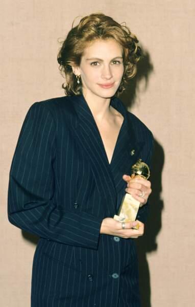 """En 1991, Julia Roberts reçoit le Golden Globe de la meilleure actrice pour """"Pretty woman"""""""