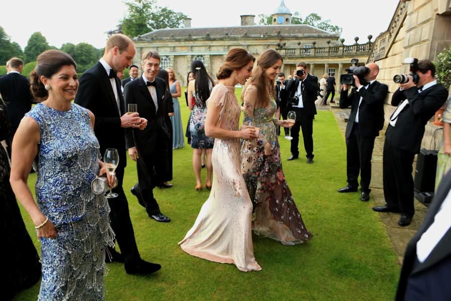 ... dont Rose Hanbury, marquise de Cholmondeley, et son mari David Rocksavage. Les deux couples étaient amis...