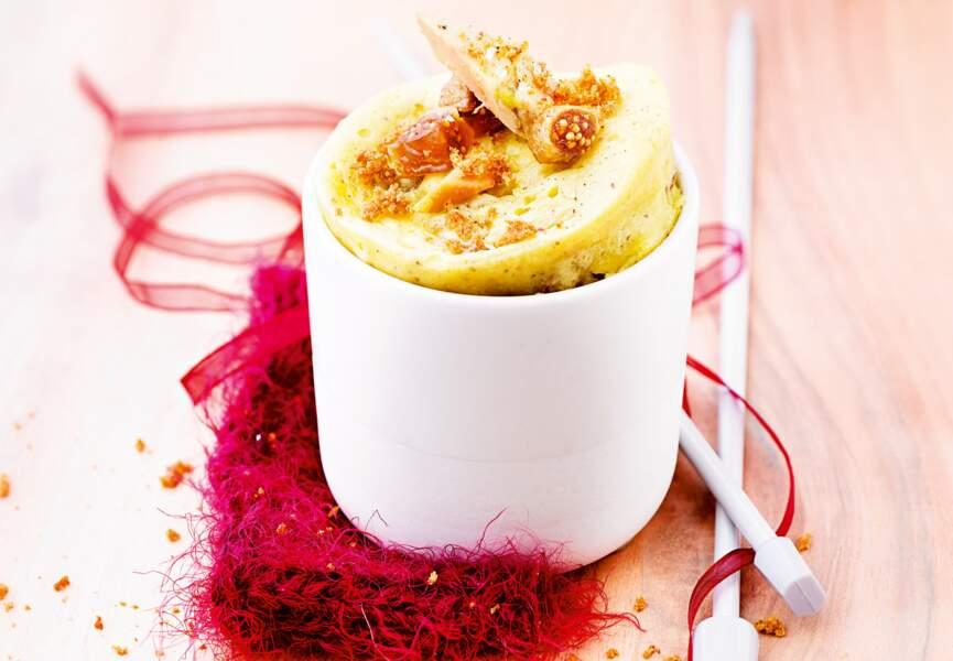 Mug cake figues et foie gras