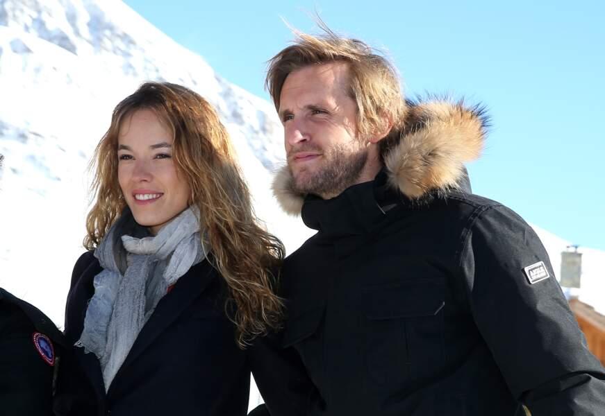 """Philippe Lacheau et Elodie Fontan lors du photocall de """"Babysitting 2"""" à l'Alpes d'Huez en janvier 2016."""