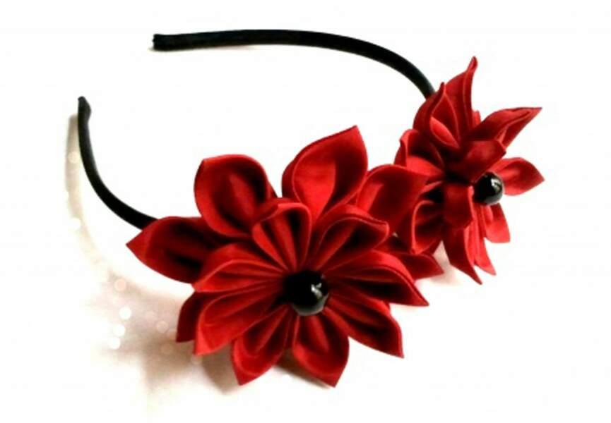 Serre-tête fleurs pliées