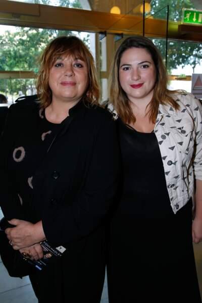 Michèle Bernier et sa fille Charlotte Gaccio au théâtre du Châtelet pour le concert de Patrick Bruel en 2016.