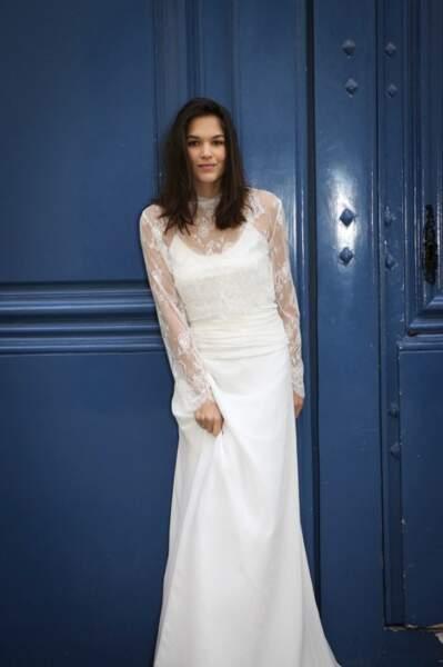 Mariage en hiver : Robe de mariée Marie par Elsa Gary