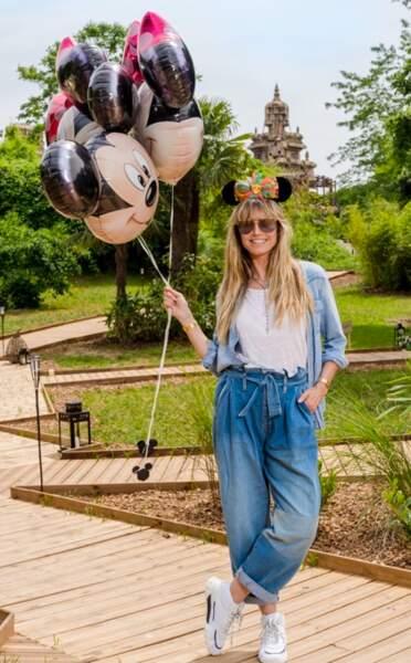 Heidi Klum fait honneur à la sortie du nouveau film Le Roi Lion à Disneyland Paris