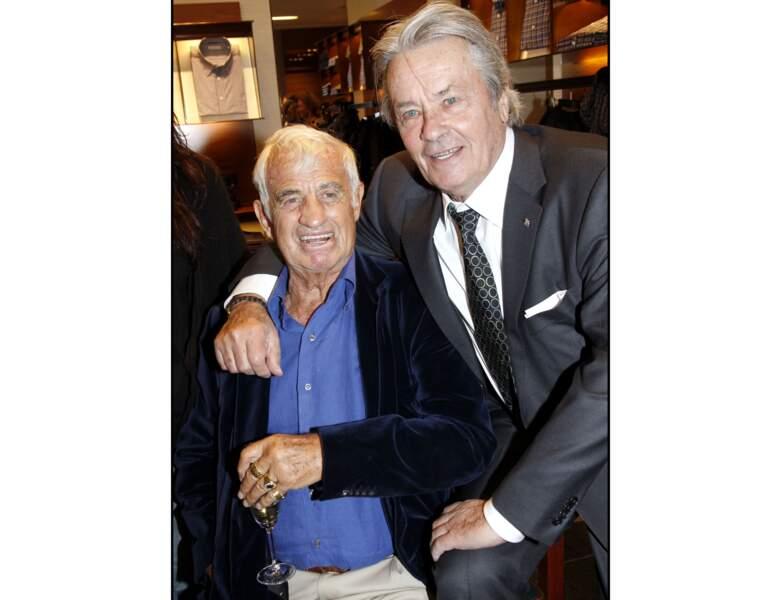 À 76 ans (2011), il est photographié avec son ami Jean-Paul Belmondo