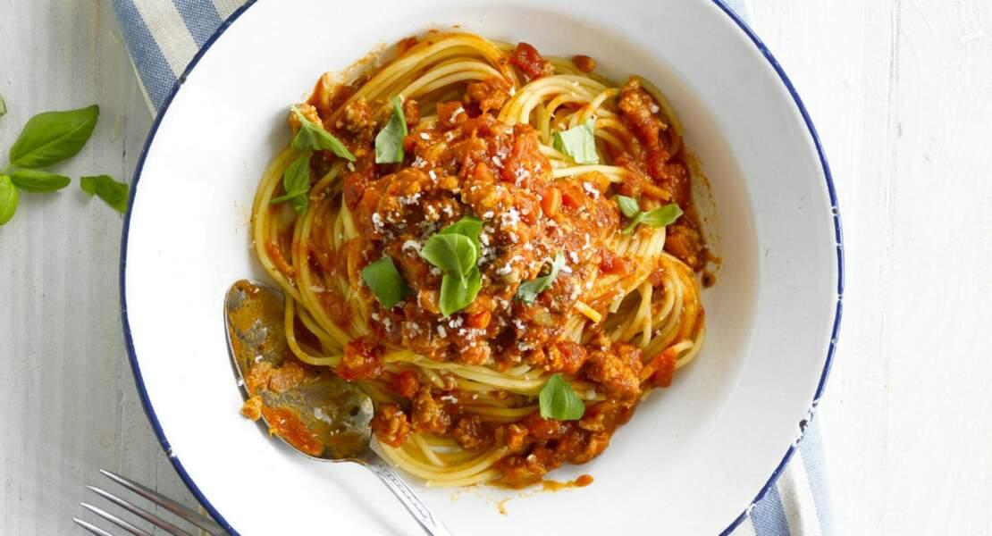 Spaghettis bolognaise au Cookeo