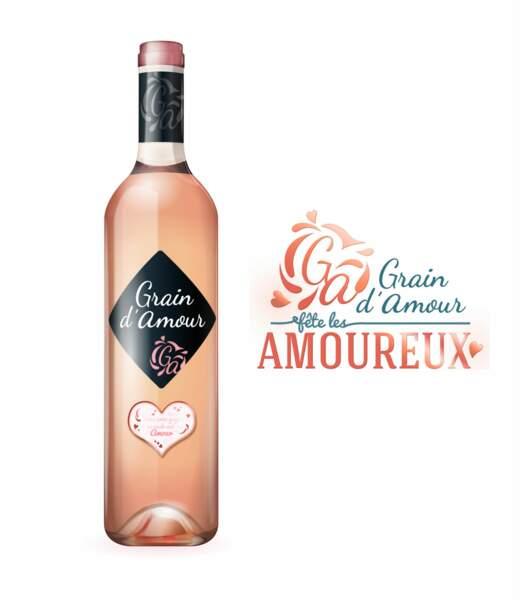 Une bouteille de vin qui laisse apparaître une déclaration d'amour au contact du froid