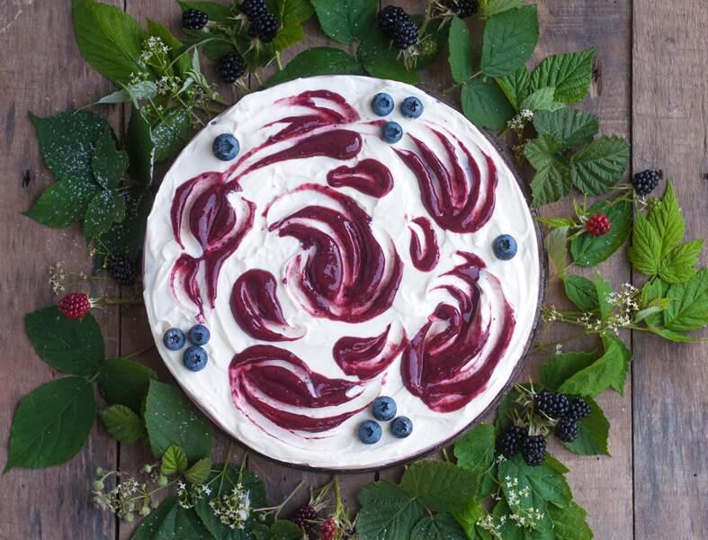 Cheesecake végétal aux fruits des bois