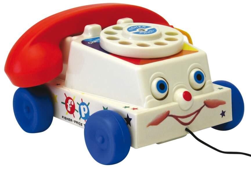 Téléphone rétro et rigolo