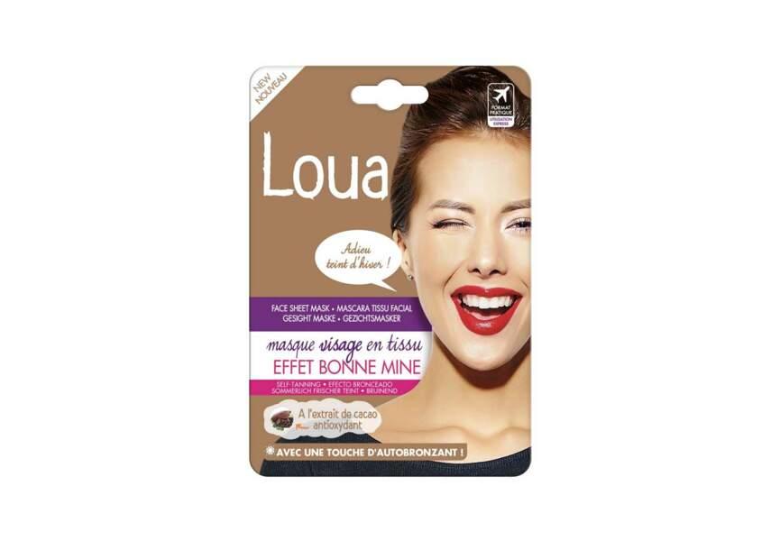 Le masque visage en tissu effet bonne mine Loua