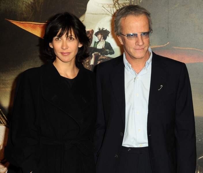 """Sophie Marceau et Christophe Lambert à la première des """"aventures extraordinaires d'Adèle Blanc-sec"""" en 2010."""