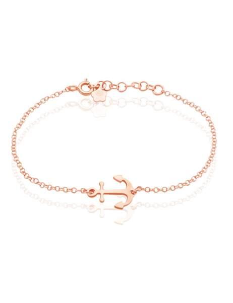 Tendance coquillages et crustacés : bracelet ancre