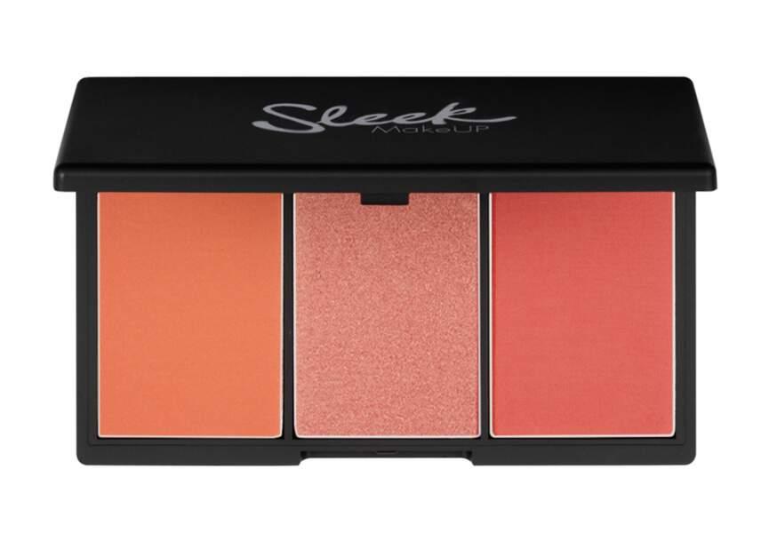 Palette de blush Blush by three, Sleek : modulable