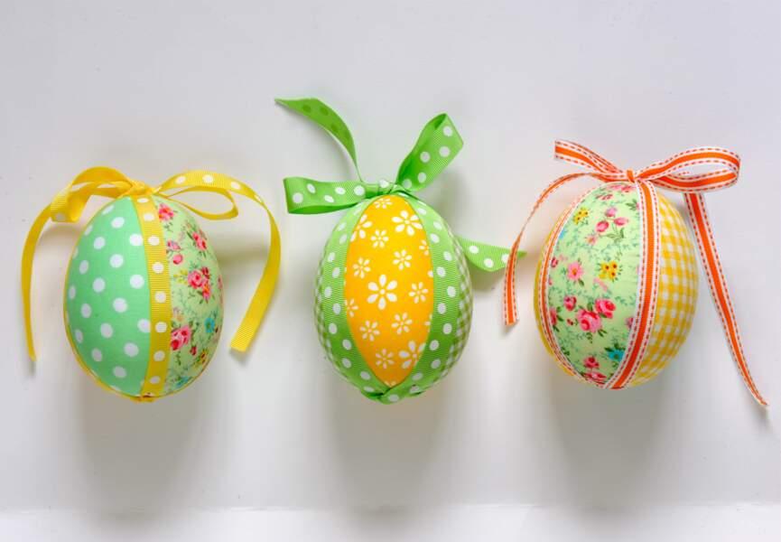 Un œuf de Pâques façon patchwork