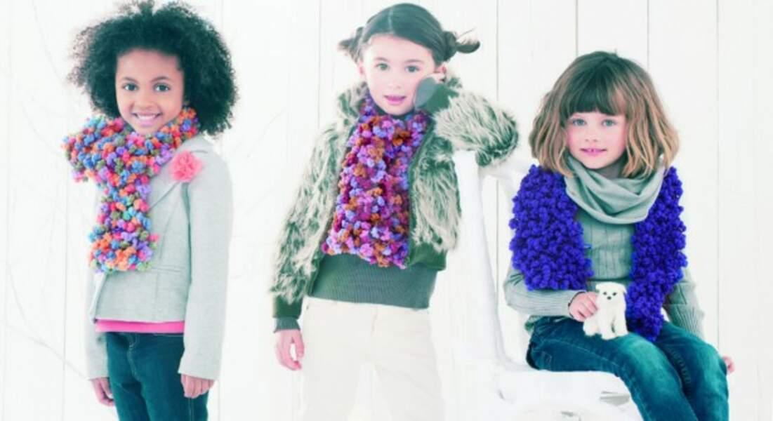 Les écharpes fantaisie enfants
