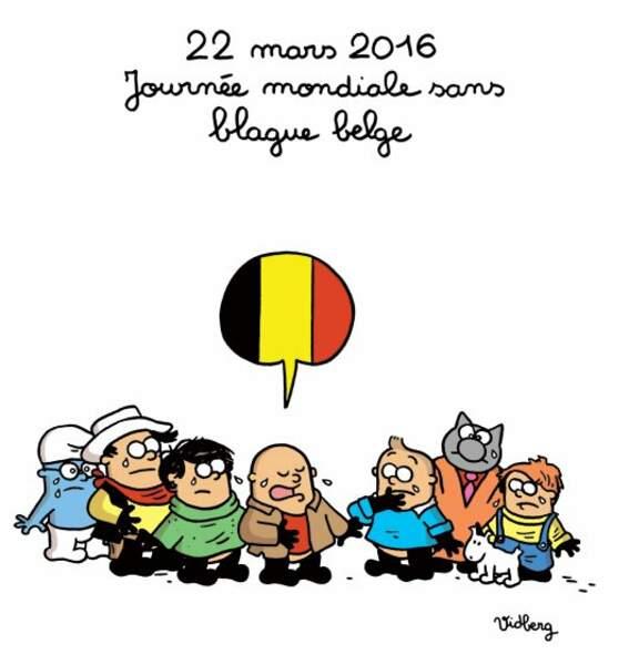 """Le 22 mars est devenu """"journée mondiale sans blague belge"""" pour Martin Vidberg, dessinateur du Monde"""