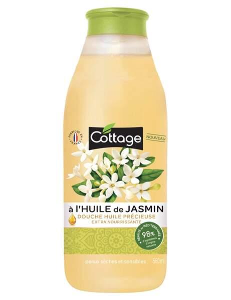 Douche Huile Précieuse Extra Nourrissante à l'Huile de Jasmin, Cottage, 3,69€