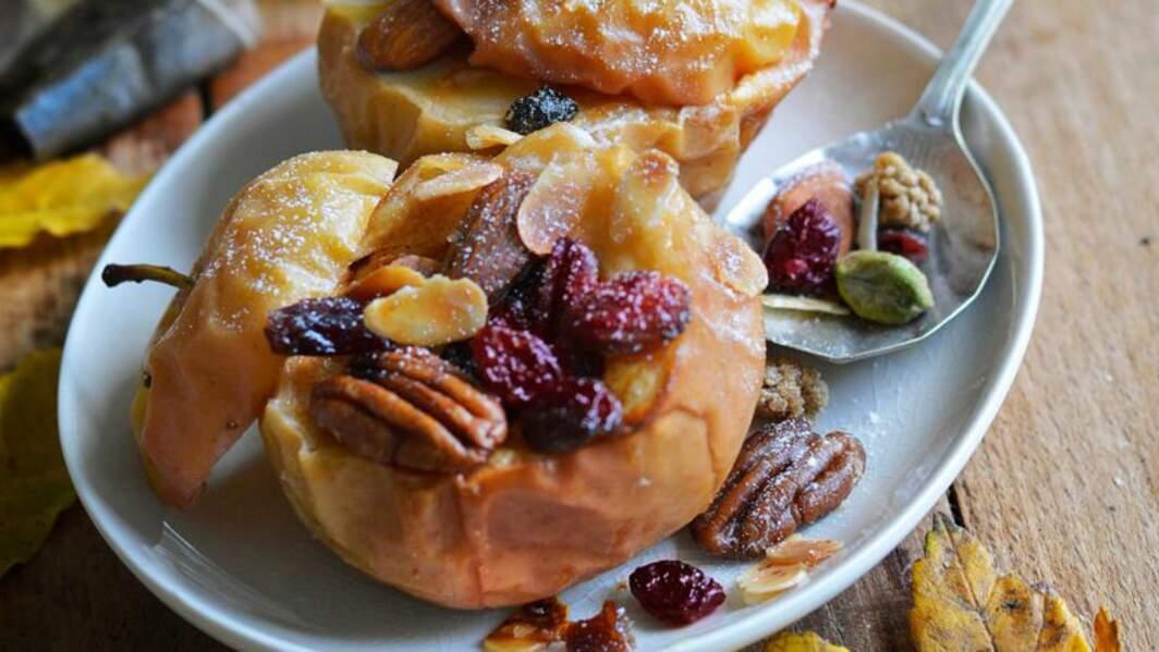 Pommes au four aux fruits secs
