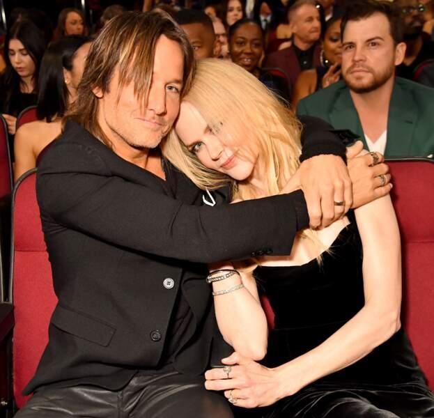 Nicole Kidman et Keith Urban à la soirée des American Music Awards en novembre 2017 à Los Angeles.
