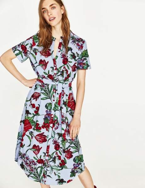 Carreau Vichy : la robe mix and match