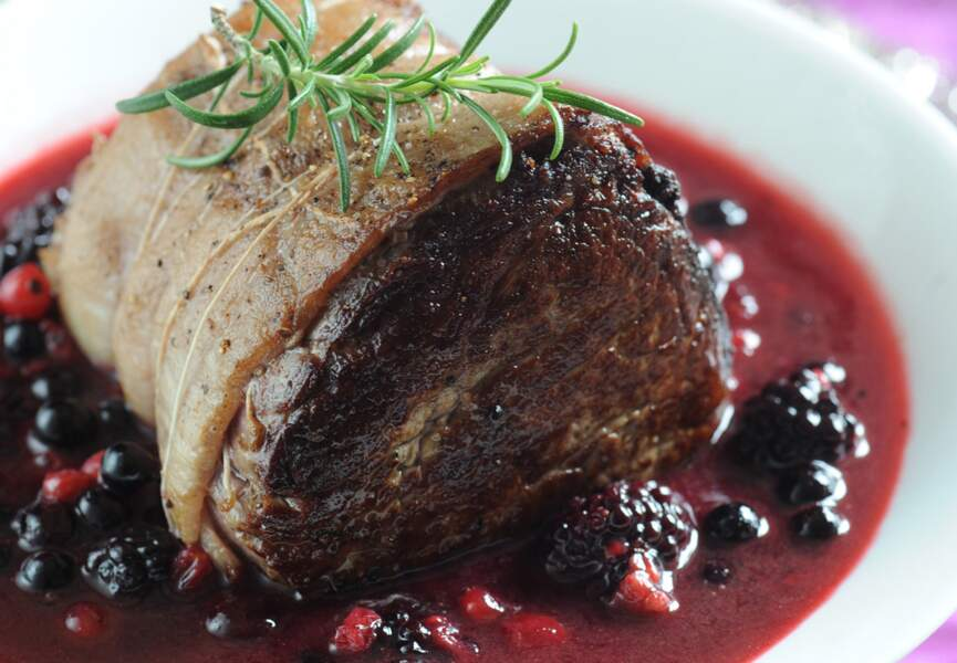 Filet de biche aux fruits rouges