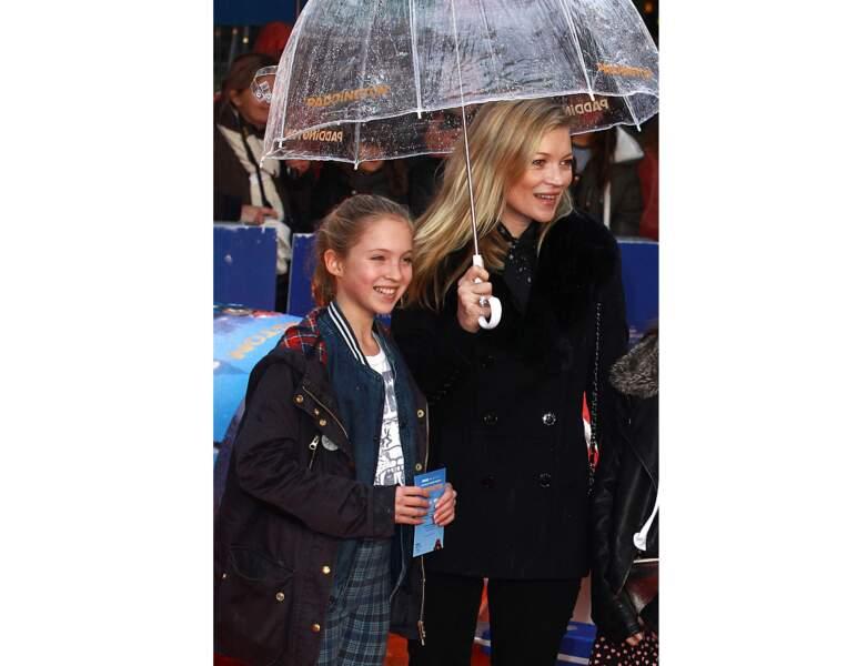 Kate et sa fille à l'avant première de Paddington en 2014