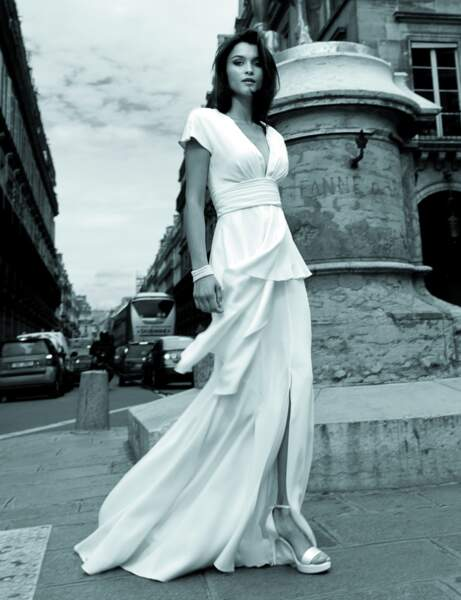 Robe de mariée style empire