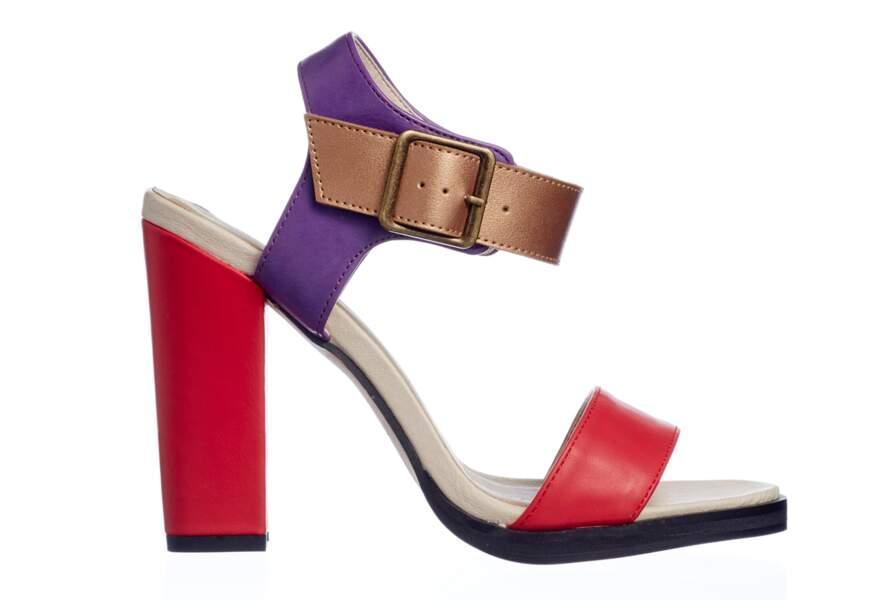 Sandales colorblock