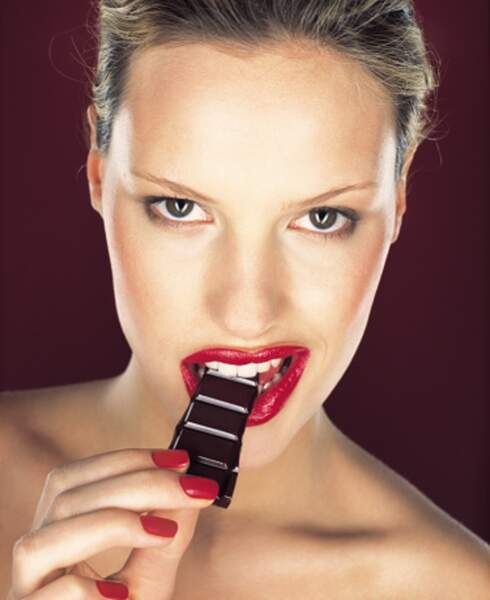 Le chocolat noir est nettement moins riche