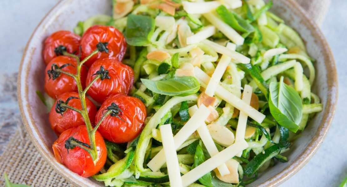 Salade de courgette à l'emmental
