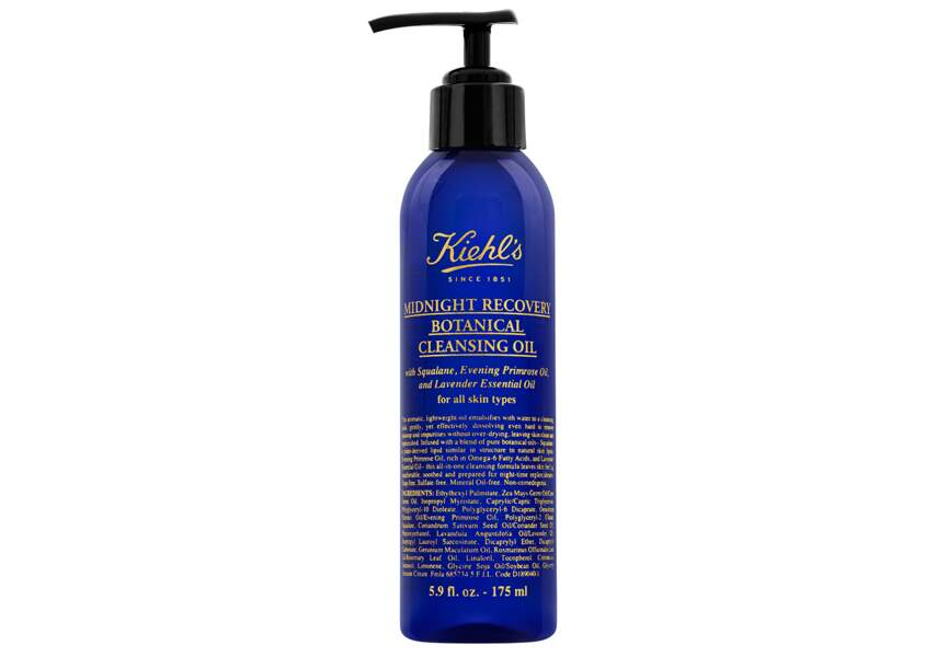 Midnight Recovery Cleansing Oil, Kiehl's : pour un démaquillage-massage
