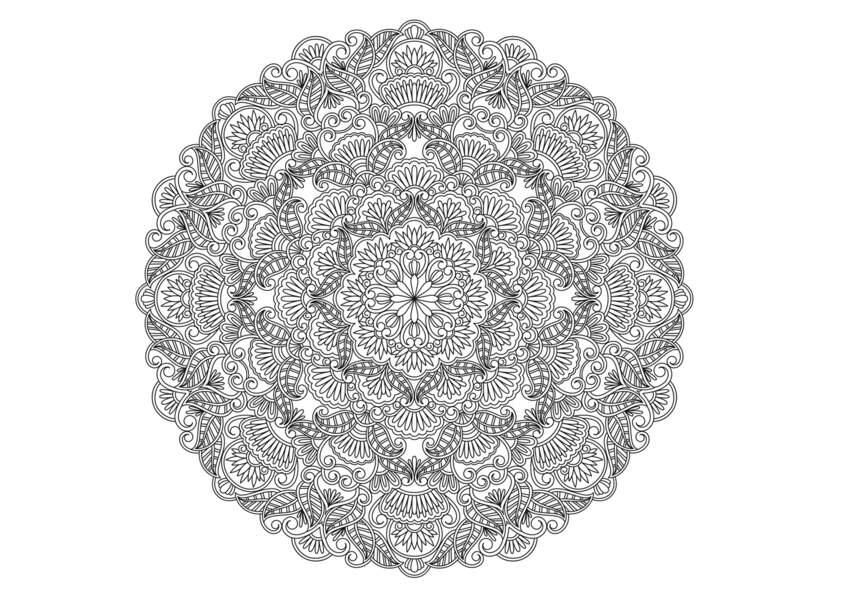 Coloriage gratuit à imprimer : Mandala