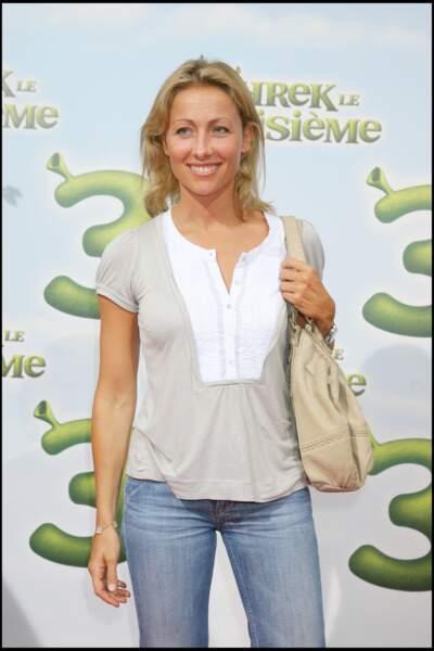 """Anne-Sophie Lapix à la première de """"Schrek 3"""" à Paris en 2007."""