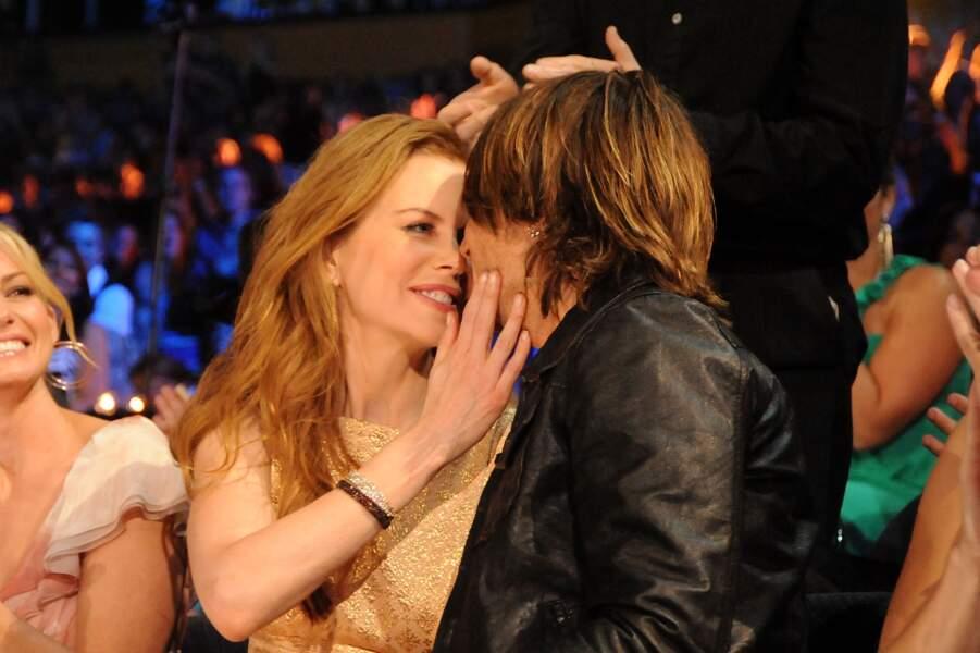 Nicole Kidman et Keith Urban au CMT Music Awards à Nashville le 9 juin 2010.