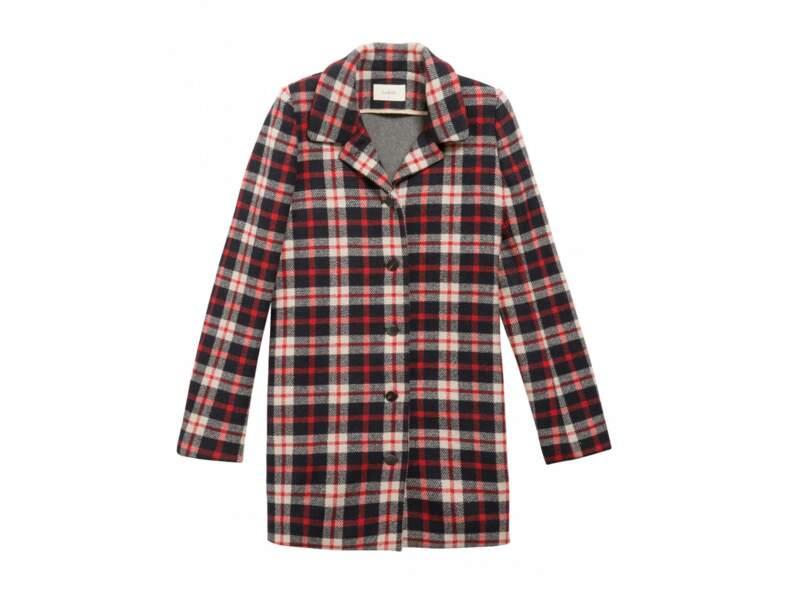 Manteau à carreaux Ba&sh