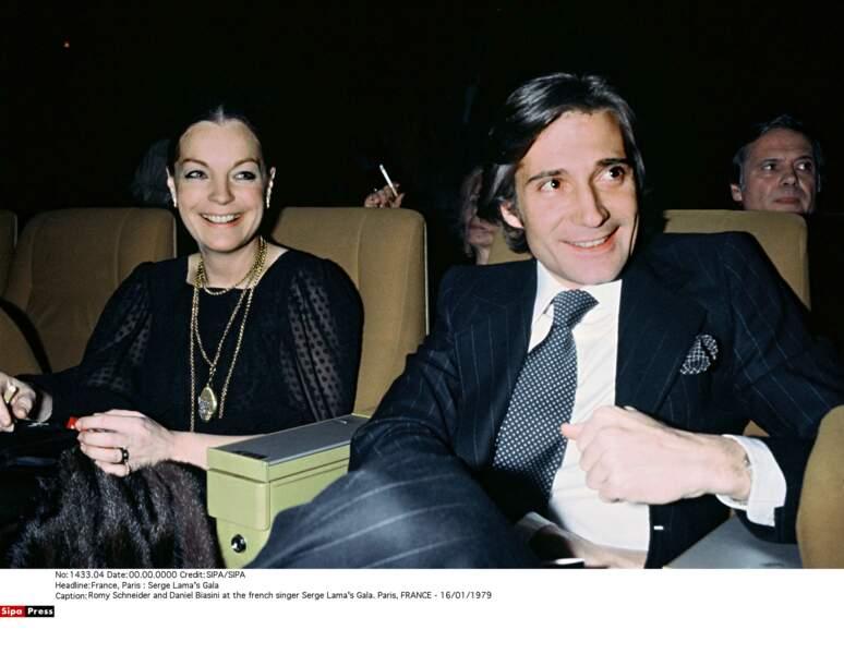 Romy Schneider et Daniel Biasini