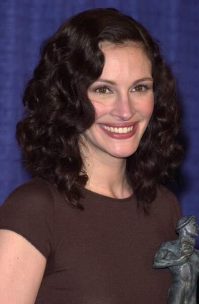Julia Roberts à la cérémonie des Screen actors Guild Awards en 2001