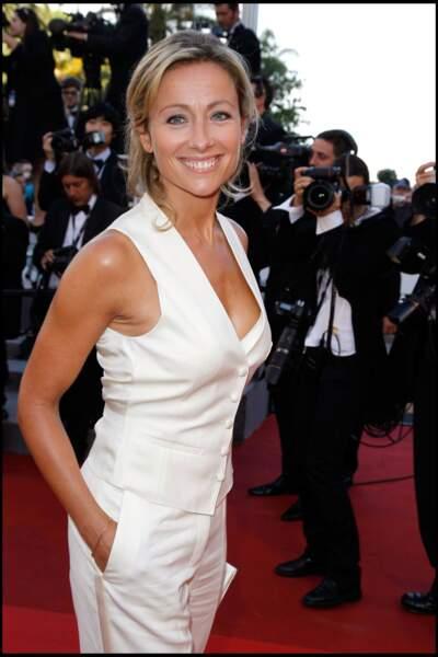 Anne-Sophie Lapix au 64ème festival de Cannes en mai 2011.
