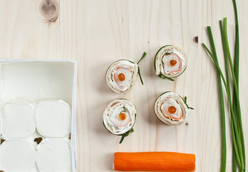 Mini wraps au surimi