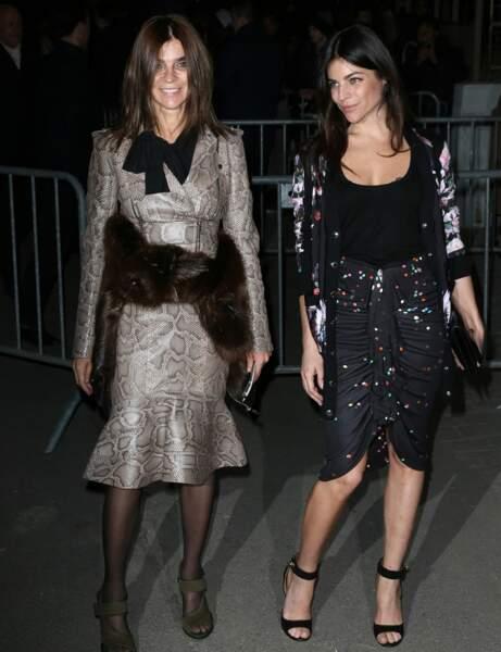 Carine Roitfeld et Julia Restoin-Roitfeld : sexy