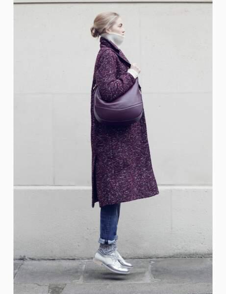 Manteau : violet