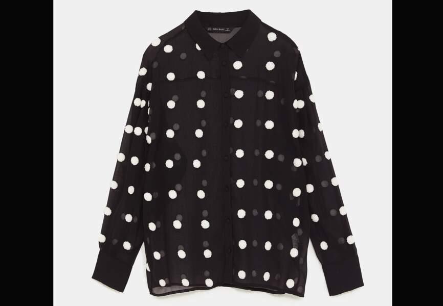 Nouveautés Zara: la blouse à pois