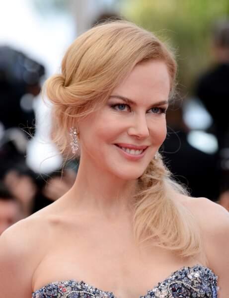 La queue-de-cheval torsadée de Nicole Kidman